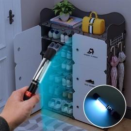 110V Portable 7W Ultraviolet UV Disinfection Lamp Power Cord Length 1.1M US Regulations Black