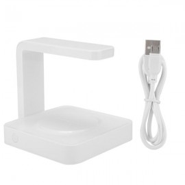 Ultraviolet Sterilization Mobile Phone Sterilizer Cell Phone Wireless Charger (White)
