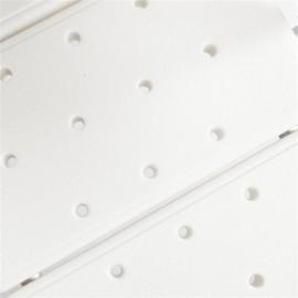 3 Blow Molding Plates Aluminium Alloy Elderly Bath Chair White
