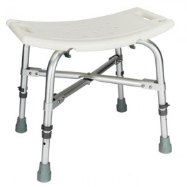 Heavy Type Adjustable Aluminum Alloy Shower Chair for the Old/Pregnant White CST-3021