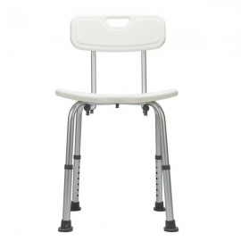 Hygienic Shower Seat , Adjustable Bath Seat, Slip Resistant Shower Chair With Removable Back Rest White