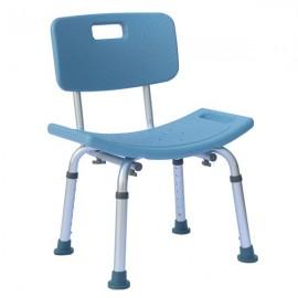 Heavy-duty Aluminum Alloy Old People Backrest Bath Chair CST-3012 Blue