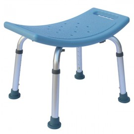 Heavy Type Adjustable Aluminum Alloy Old People Shower Chair Bath Chair CST-3011 Blue