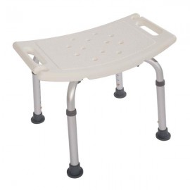 Heavy Type Adjustable Aluminum Alloy Old People Shower Chair Bath Chair CST-3011 White