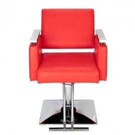 HC197R Square Base Boutique Hair Salon Special Hairdressing Chair Beauty Chair Red