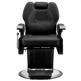 Classic Hydraulic Recline Hair Salon Iron Leather Sponge Barber Chair Black