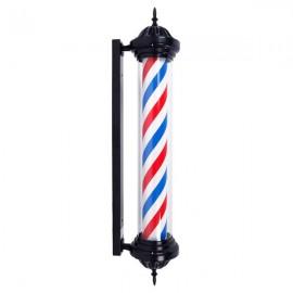 "41"" M339C Rotating Barber Pole Light LED Light US Plug Red & Blue & White"