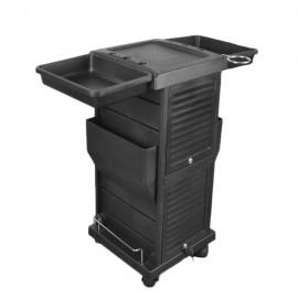 HZ2001 Saloniture Premium Locking Rolling Trolley Cart Removable Barber Cart Black