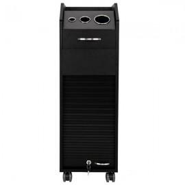 Salon Trolley Storage Cart with Lockable Rolling Wheels Beauty Hair Dryer Black