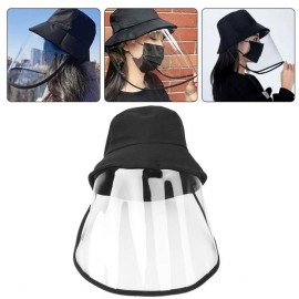 Protective Sunproof Fisherman's Hats with Anti-Saliva Transparent Face Shield Protection Equipment