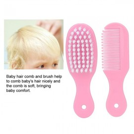 Baby Infant Nail Clipper Scissors Hair Brush Comb Medicine Dispenser Thermometer Set (Pink)