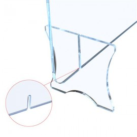 "Leadzm  Acrylic Removable Sneeze Guard, Clear Freestanding Protective Shield, Barrier Against Virus Spread Board, Desk Divider (36"" x 23.6"" x0.24"")"