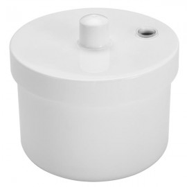 Disinfection Round Box Sterilizer Pot Clean Jar for Nail Art Metal Tools Manicure Accessories