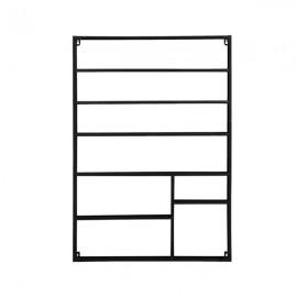 [US-W]6 Tier Metal Nail Polish Display Organizer Wall Rack Holder Black