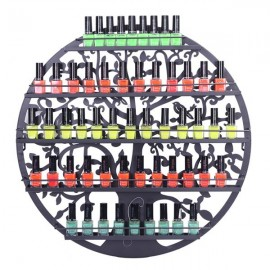 [US-W]5 Tier Metal Circular Nail Polish Display Organizer Wall Rack Holder