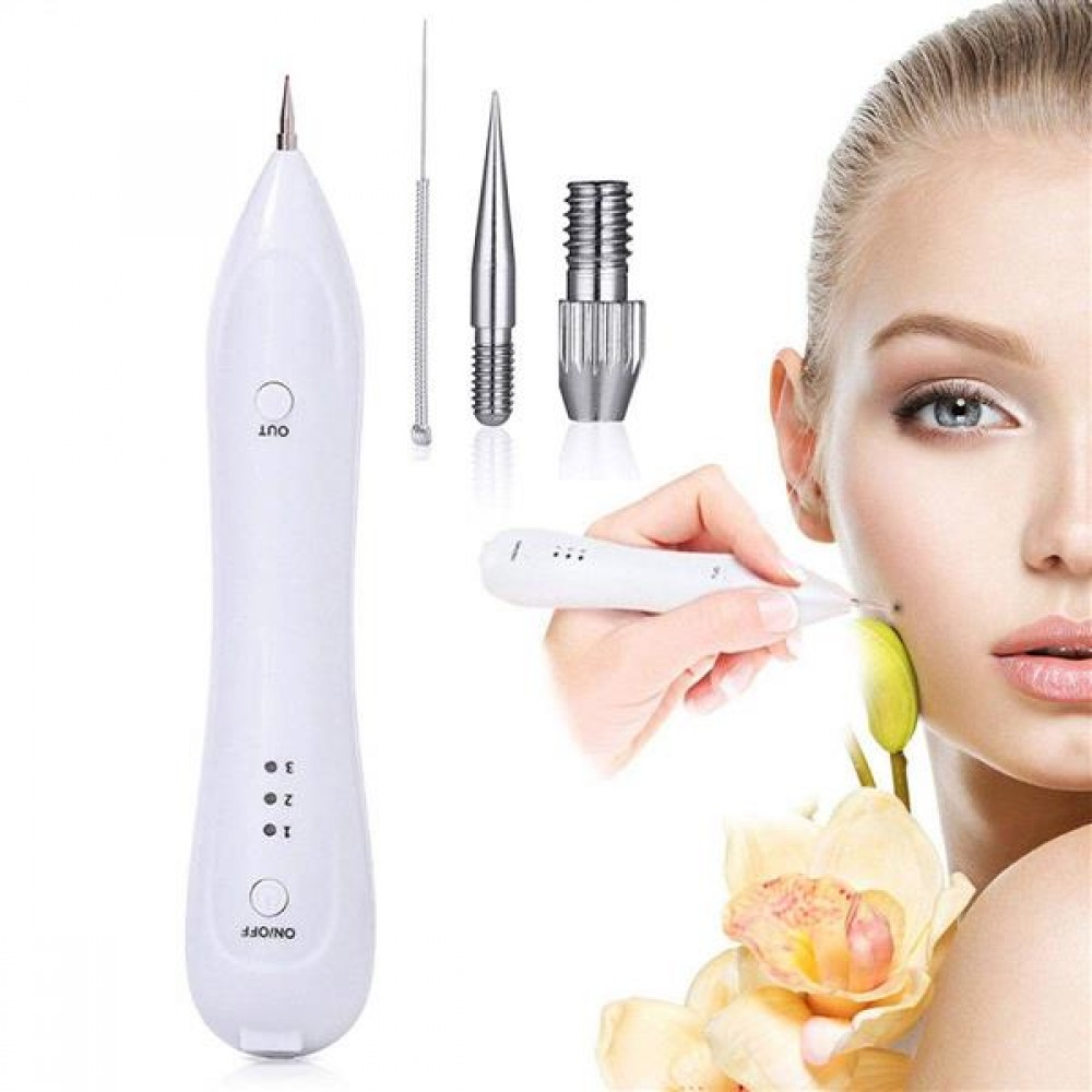 1Pc New Portable USB Charging Beauty Age Spot Removal Pen Mole Warts Freckle Remover Machine
