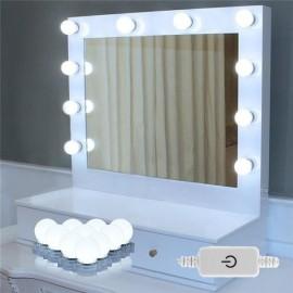 LED Vanity Mirror Lights Makeup Lighting Kit with 10 Light Bulbs Makeup Mirror Lights Kit