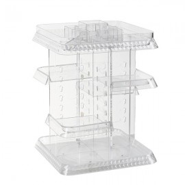 Makeup Organizer 360 Degree Rotation 7 Layers Adjustable Storage Different Kinds of Cosmetics Multi-Function Large Square Capacity Makeup Storage Organizer Great for Bathroom Dresser Vanity