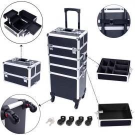 4 in 1 Aluminum Cosmetic Makeup Case Tattoo Box Black