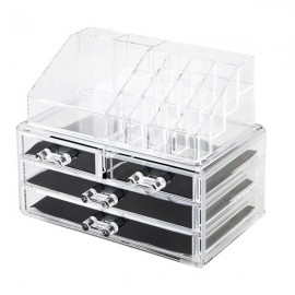 Acrylic Cosmetics Storage Rack with 4 Drawers Transparent