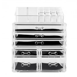 Acrylic Cosmetics Storage Rack with 7 Drawers Transparent