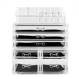 Acrylic Cosmetics Storage Rack with 7 Drawers Transparent